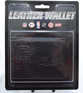 Rico Mens MLB Minnesota Twins Tri-Fold Leather Wallet, Black 094746684044-P
