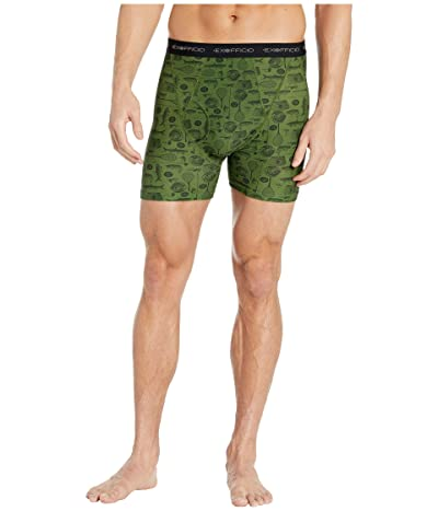 ExOfficio Give-N-Go(r) Printed Boxer Brief (Alpine Green Fly Fishing) Men