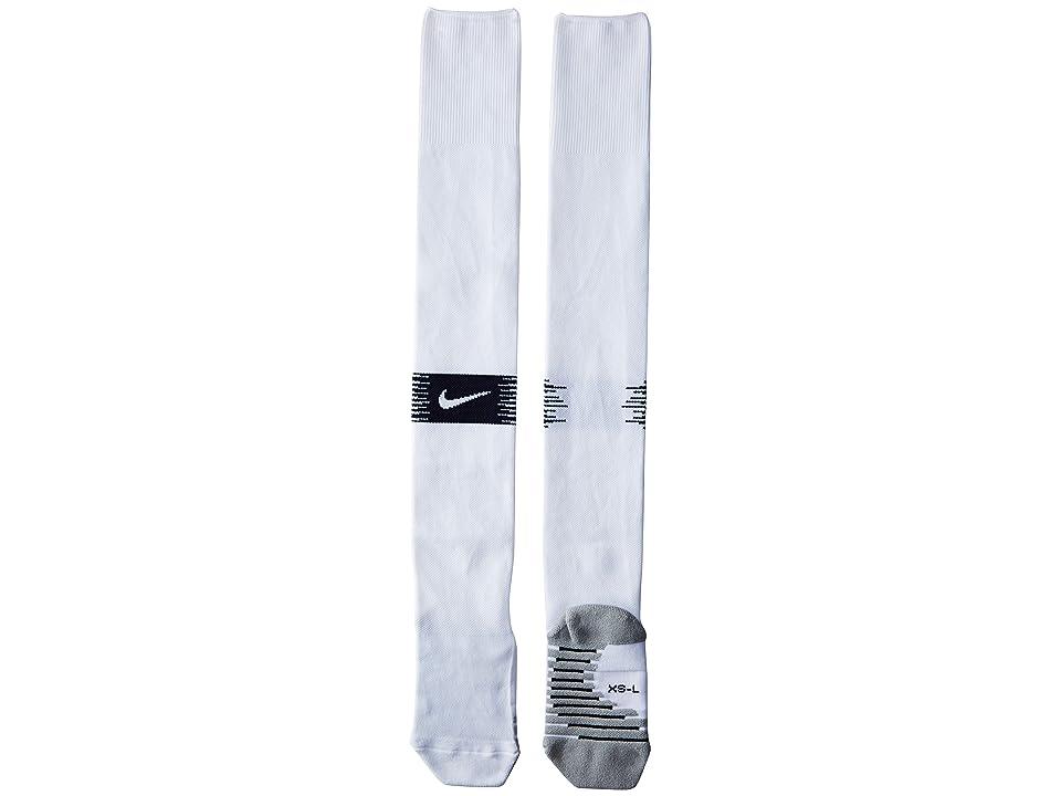 Nike FFF Stadium Over-the-Calf Sock Home/Away (Little Kid/Big Kid/Adult) (White/Obsidian/White) Crew Cut Socks Shoes
