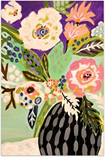 Empire Art Direct Flowers Art,Colorful Frameless Tempered Glass Panel,Contemporary Wall Decor Ready to Hang,Living Room,Bedroom & Office