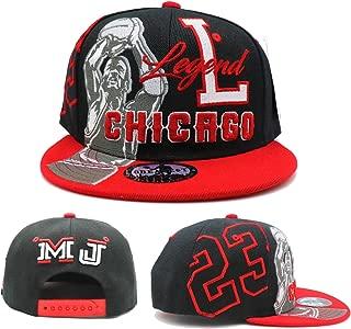 Chicago New Legend Greatest 23 MJ Shooter Black Red Era Snapback Hat Cap