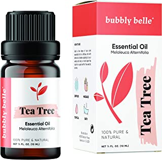 Bubbly Belle Tea Tree Essential Oil, 100% Pure Natural Undiluted, Therapeutic Grade for Aromatherapy, Diffusers, Topical, ...