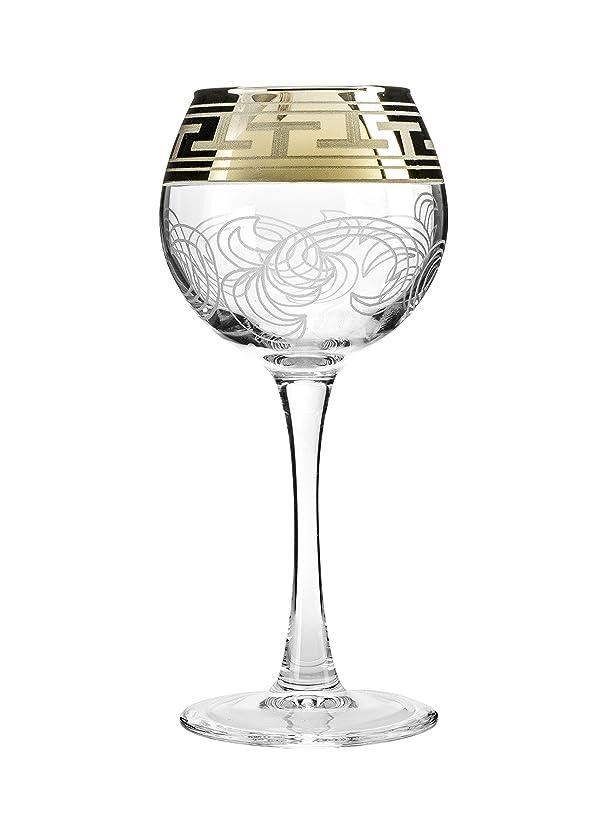 プラットフォーム庭園速度クリスタルGoose gx-01?–?1689、7.1オンスWine Glasses withゴールドSputtering、クリアレッド/ホワイトワインメガネon a Long Stem、ウェディングDrinkware、ギフトボックスのセット6