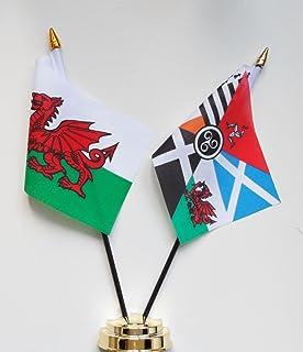 "Wales and Celtic Nations Vriendschap Tafelvlag Display 25cm (10"")"