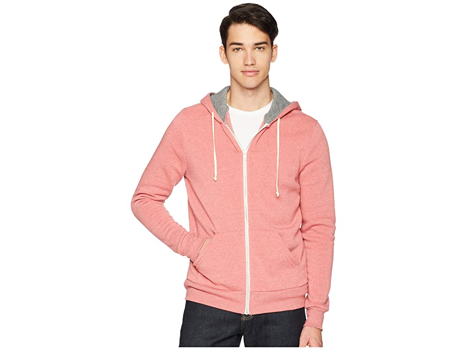 Alternative Rocky Color Blocked Hoodie (Spiced Coral Overdye/Eco Grey) Men