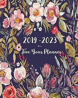 2019-2023 Five Year Planner- Flower: 60 Months Planner and Calendar,Monthly Calendar Planner, Agenda Planner and Schedule Organizer, Journal Planner ... years (5 year calendar/5 year diary/8 x 10)
