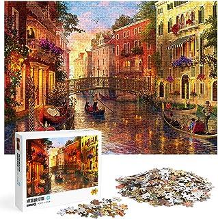 Puzzle 1000 Pièces,Adultes Puzzle Classique Venise Romantique, Jeu Interactif Familial, Puzzle éducatif Adulte, Ensembles ...