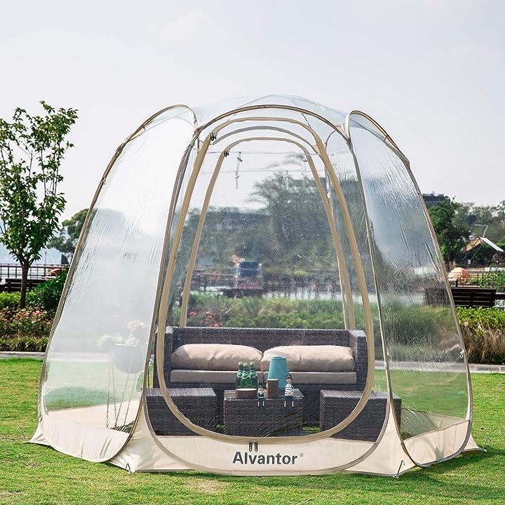 Gazebo giardino trasparente alvantor 9019#E6 - Tenda giardino trasparente