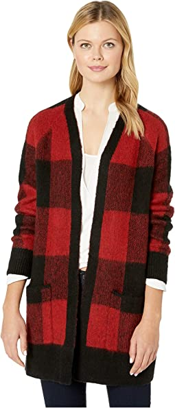 Buffalo Plaid Cardigan Sweater