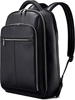 Samsonite Classic Leather Backpack, Black, One Size