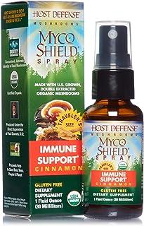 Host Defense, MycoShield Cinnamon Spray, Immune Support, Mushroom Supplement with Turkey Tail, Reishi and Chaga, Vegan, Or...