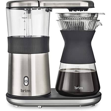 Amazon.com: Brim 8 Cup Pour Over Coffee Maker Kit, Simply Make Rich, Full-Bodied Coffee Every ...