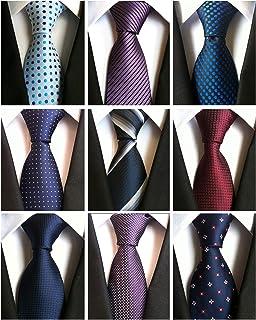 AVANTMEN Classic Men's Neckties 6&9 PCS Woven Jacquard Neck Ties