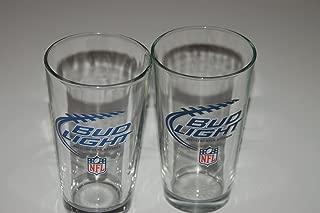 Bud Light NFL Pint Glasses - Set of 2