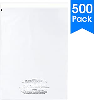500 Pack 9x12 OPP Crystal Clear Self-Sealing Bags Distributed by Shipping Depot Resealable Peel and Seal Strip Cello//Cellophane