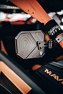 Cuero Side Mirrors Can Am Maverick X3 Premium Aluminum w/Direct & Roll Cage Mounts TITANIM