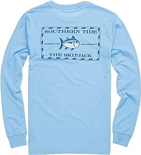 Southern Tide Long Sleeve Original Skipjack T-Shirt, Ocean Channel