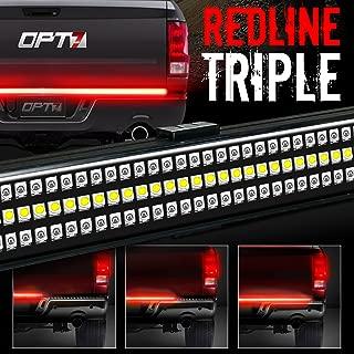 OPT7 Redline Triple LED Tailgate Light Bar w/Sequential 48