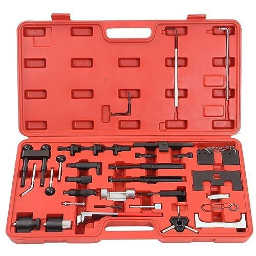 LARS360 Motoreinstell Werkzeug Arretierwerkzeug Zahnriemen Werkzeug Satz Motor-Einstellwerkzeug für Audi VW Steuerriemen aus robustem Carbonstahl im Werkzeugkoffer
