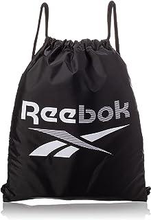 Reebok Unisex Te Gymsack Shoulder/Messenger Bag, Black/White, Einheitsgröße