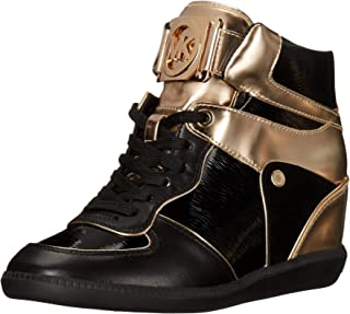 MICHAEL Michael Kors Women's Nikko High-Top Black Suprema Nappa Sport Sneaker