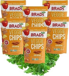 Brad's Plant Based Organic Veggie Chips, Cheddar, 6 Count
