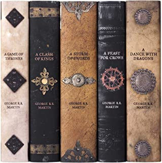 Game of Thrones | Five-Volume Hardcover Book Set with Custom Designed Juniper Books Dust Jackets | Author George R. R. Martin