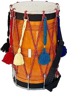 DHOL STRAIGHT SAI NATURAL MANGO WOOD FullSize PUNJABI BHANGRA DRUM DBH-02