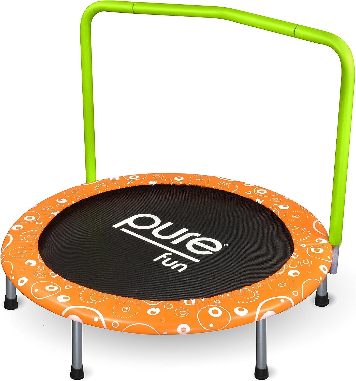 Pure Fun   Trampolines Pure Fun 36inch Foldable Kids Mini Trampoline 9336KM, orange, 36inch