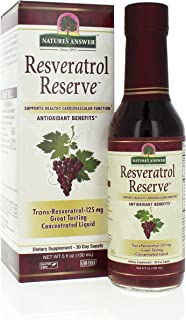 Nature's Answer Alcohol-Free Resveratrol Reserve, 5-Fluid Ounces | Packed with Antioxidants | Promotes Overall Health | Im...