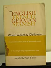 An English-French-German-Spanish word frequency dictionary