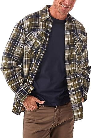 Wrangler Authentics Camisa vaquera de manga larga con forro Sherpa para hombre - negro