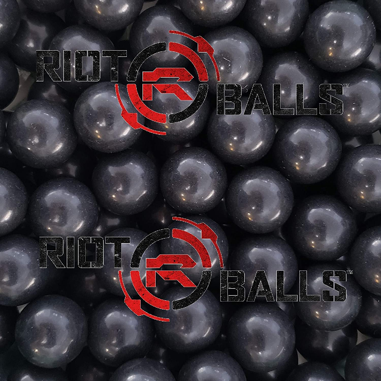 500 Count X San Antonio Mall 0.68 Cal. Black Free shipping PVC Le Riot Nylon Defense Self Balls