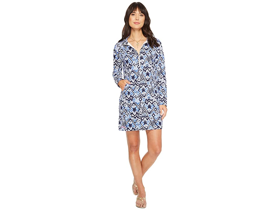 Lilly Pulitzer UPF 50+ Skipper Dress (Beckon Blue Oh My Cod) Women