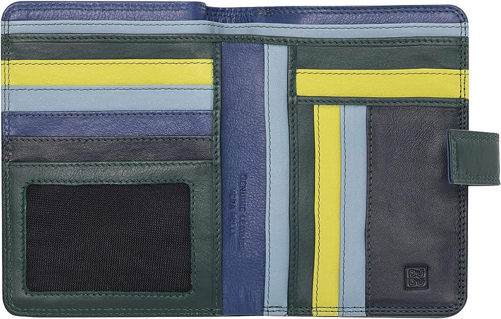 Dudu, portafoglio, porta carte di credito per donna, con protezione rfid, multicolore,  in pelle morbida 8031847173970