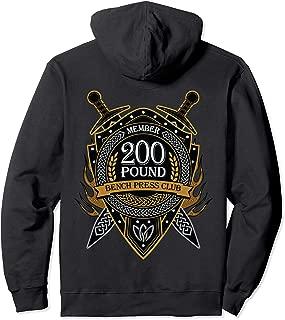 200 Pound Bench Press Club Member Celtic Shield Men Women Pullover Hoodie