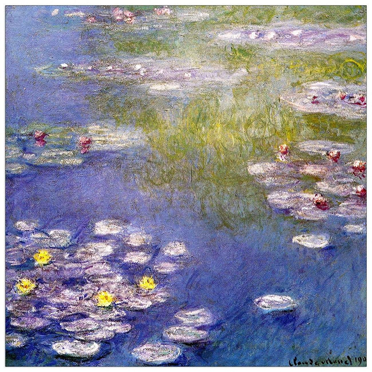 ArtPlaza TW91842 Monet Claude - Nympheas at Giverny Decorative Panel 31.5x31.5 Inch Multicolored