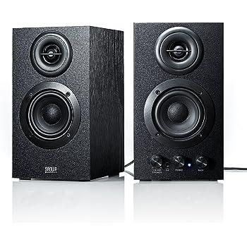 サンワダイレクト PCスピーカー ステレオ 高音質 16W 木製 ブックシェルフ型 400-SP068