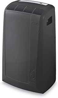 DeLonghi PACN135EC 3-in-1 Portable Air Conditioner, Dehumidifier & Fan + Remote Control & Wheels, 550 sq. ft, Large Room, Dark Gray