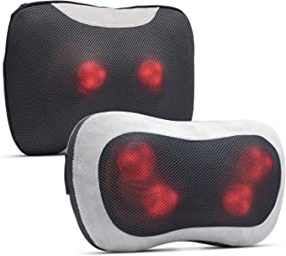 RENPHO Back Massager Kit with Heat, Shiatsu Massage Pillow with Deep Tissue Kneading for Neck Back Shoulder, Relaxation Gi...