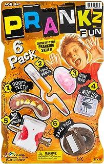 JA-RU Pranks Kit for Kids Gags Toys 6 Different Cool Stuff Scary Prop Set. Party Favor Bag Toy. Prankz Gaging Fun Pranking...