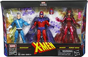 """Marvel Legends Series Exclusive 6"""" Family Matters 3 Pack with Magneto, Quicksilver, & Scarlet Witch Action Figures (Amazon Exclusive)"""
