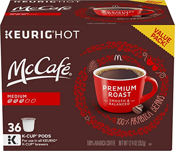 McCafe Premium Roast Keurig K Cup Coffee Pods 36 Count