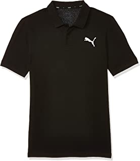PUMA Men's ESS Pique Polo, (Black 21), Small