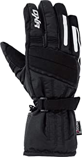 DXR Motorradhandschuhe lang Motorrad Handschuh Textilhandschuh 1.0, Motorradhandschuhe Herren, Knöchelabdeckung, Visierwischer, Reflektoren, Fleecefutter, Schwarz, 5 12