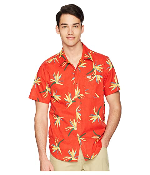 CAPTAIN FIN Jungle Jam Short Sleeve Woven, Red