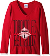Junk Food MLS Toronto Fc Women's Major League Soccer Long Sleeve Tee, Large, New Red