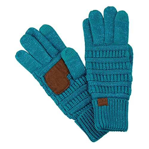 fae91c52ca4ff C.C Unisex Cable Knit Winter Warm Anti-Slip Touchscreen Texting Gloves