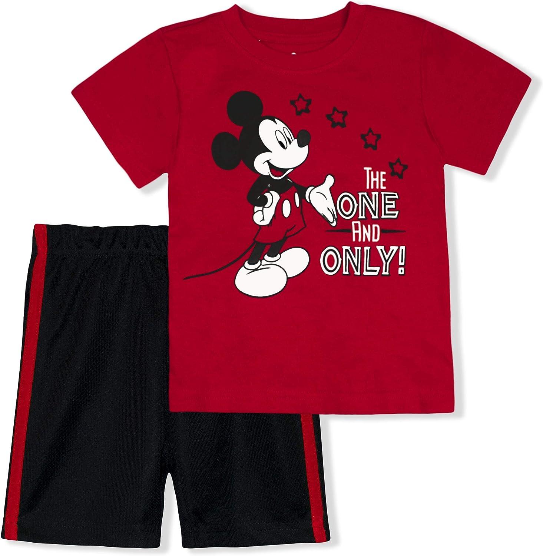 Disney Boy's 2-Piece Mickey Mouse Max 87% Las Vegas Mall OFF Tee Shirt Set and Short