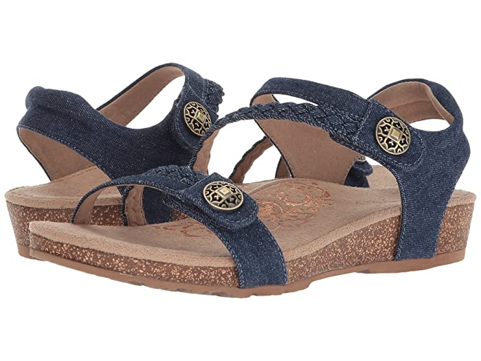 Aetrex  Jillian Quarter Strap (Denim) Womens Sandals